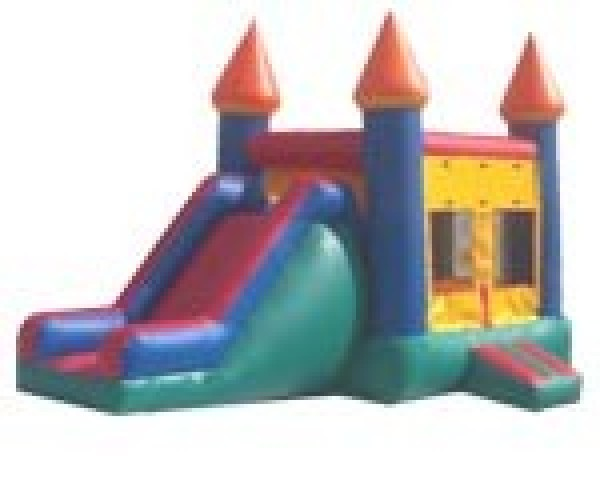 Castle Combo with Basketball Hoop on Inside!!! $125.00 All Day!!! 13 wide 26 long 14 High