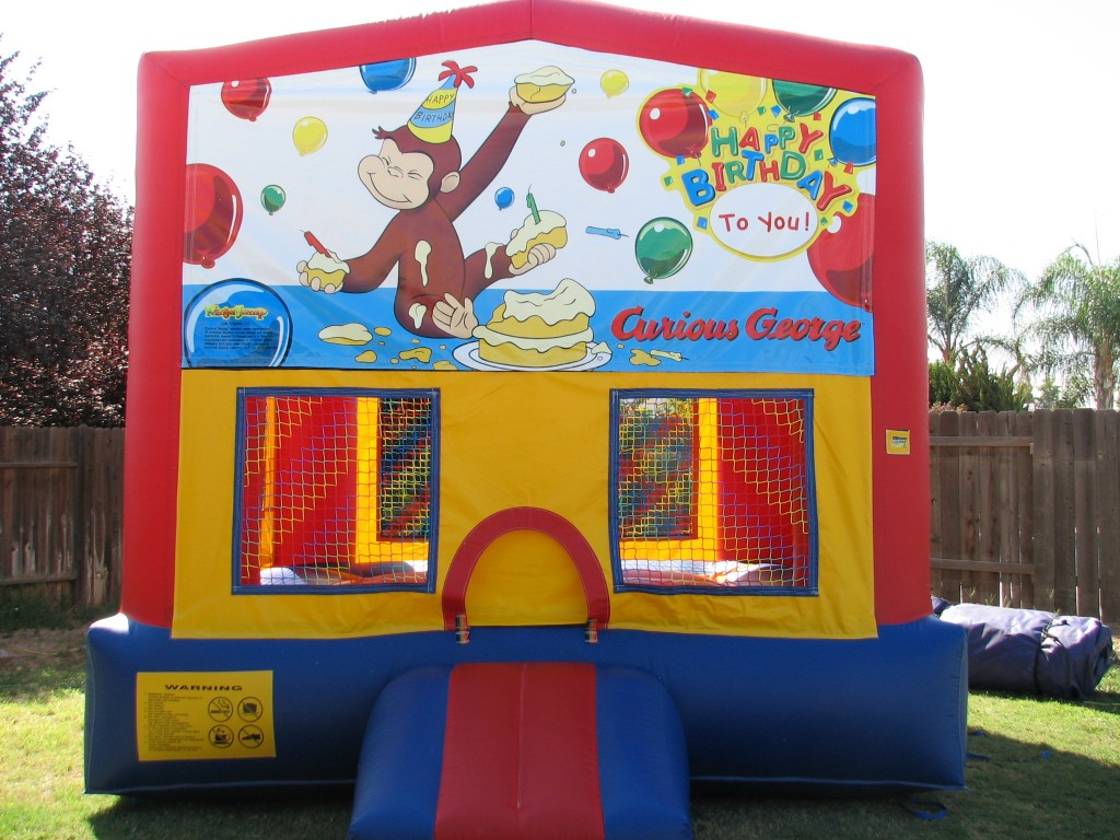 Amazing Bounce Curious George Bounce House 13 X 13 $75.00 all Day