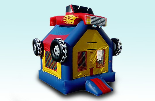 3D Monster Truck Bouse House with Basketball Hoop, $95.00 All Day, 15 X 15