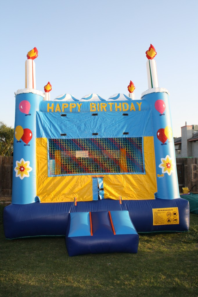 Happy Birthday Candle Bounce House, $75.00 All Day, 13 X 13