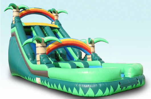 20 FT High Dual Lane Water Slide with Pool!!! $375.00 All Day!!! 20 High, 38 Long, 14 Wide