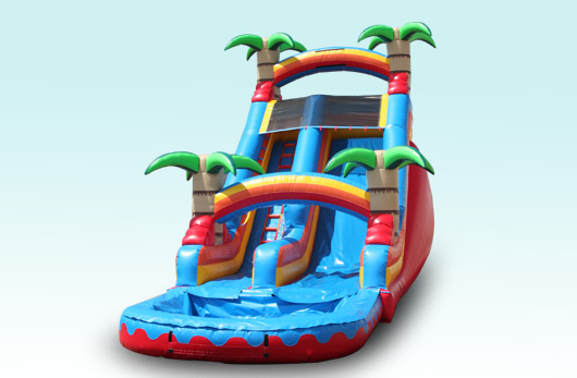 16 Ft Tropical Rainbow Water Slide with Pool!!! $225.00 All Day!!! 16 High, 32 Long 12 Wide