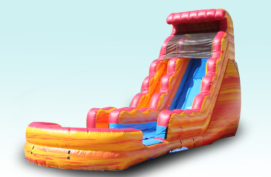 18 Ft GIANT FIRE & ICE WATER SLIDE WITH POOL $225.00 ALL DAY!! 18 ft high 32 foot long 13 wide