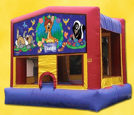 Bambi Bounce House with Basketball Hoop Inside, $75.00 All Day, 13 X 13