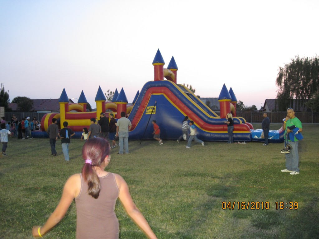 70 Ft Obstacle Course Including 17 Ft High BackLoad Slide $325.00 All Day 15 Wide 70 Long 17 High
