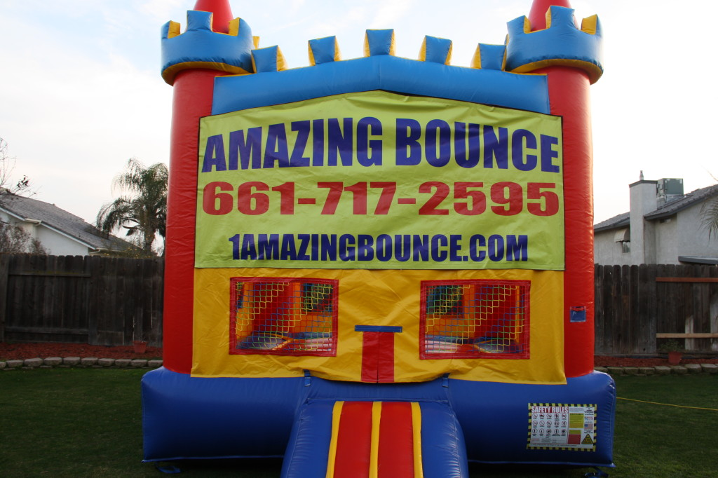 13 X 13 Fun House Castle with Basketball Hoop on the inside, Over 60 themes available! Special $69.00