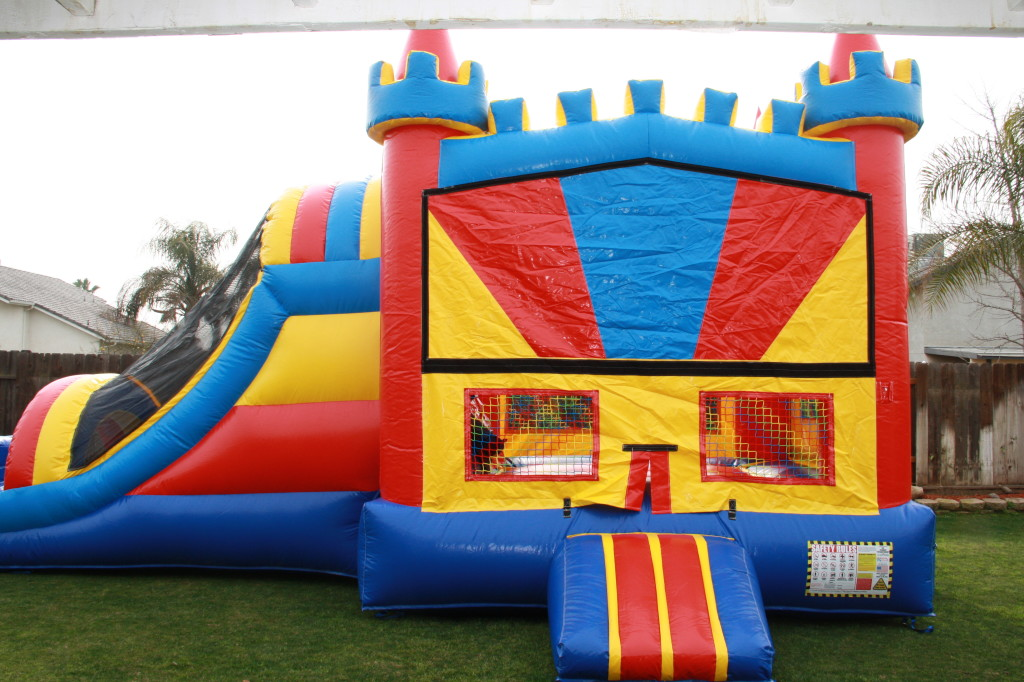 15wide X 32 long Fun House Castle Combo with Basket ball Hoop on inside, Over 60 Themes available! $185 Special $155