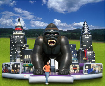 King Kong Giant Slide and Obstacle Course!  $595.00 All Day!!