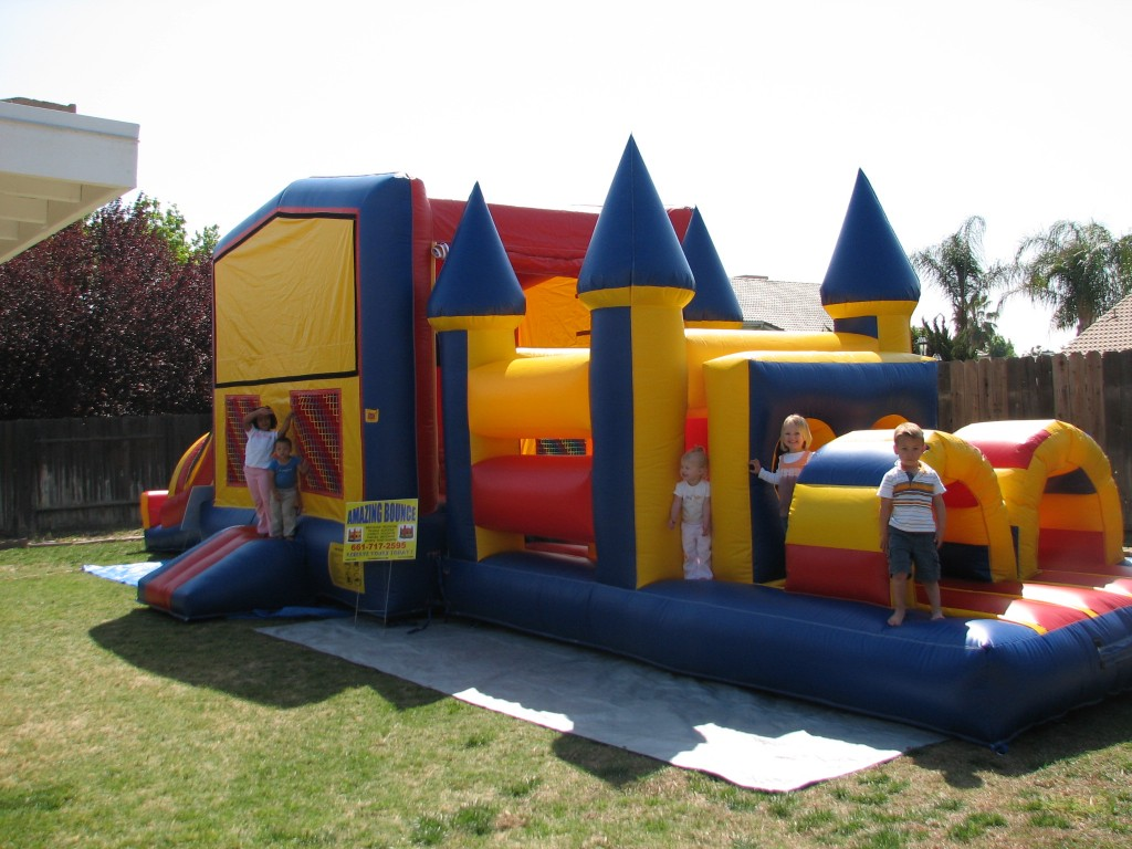 55 ft Fun House Combo Obstacle Course, $275.00 All Day 15 Wide 55 Long 14 High