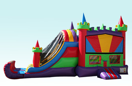 15wide X 32 long 2 Lane Fun House Castle Combo with Basket ball Hoop on inside, Over 60 Themes available! $185 Special $155